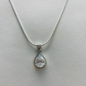 Tear Drop Diamond Necklace